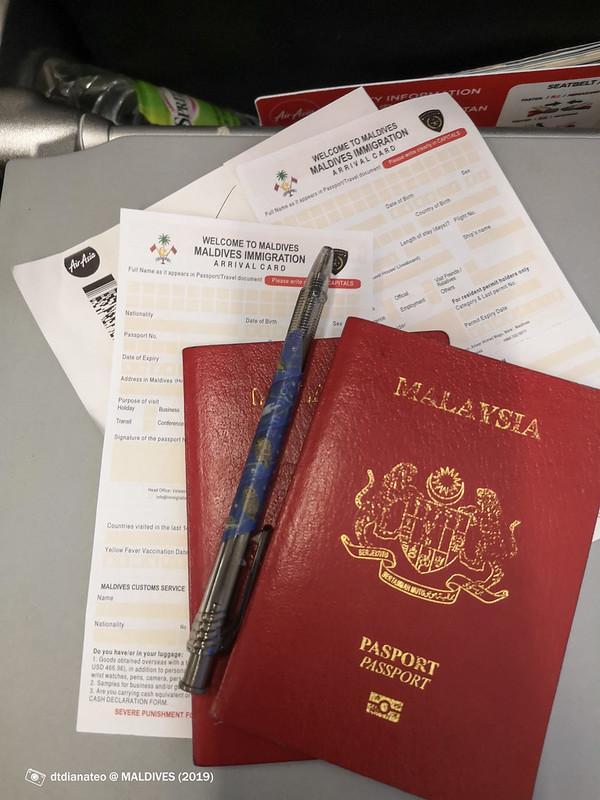 2019 Maldives Immigration Arrival Form