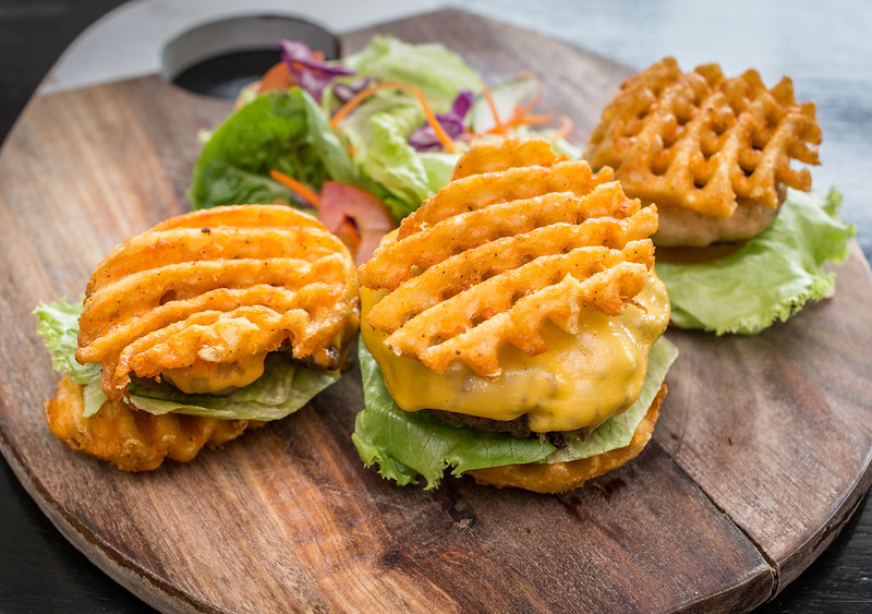 U.S. Skin-On Waffles Fries Trio Burger Sliders 2