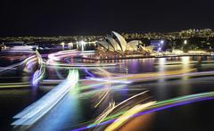 Boat Light Trails, Vivid Sydney 2019