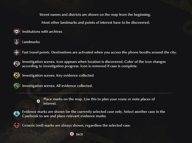 The Sinking City - Map Legends