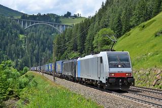 Lokomotion 186 283 + 189 104 St. Jodok im Brenner (A) 20 juni 2019