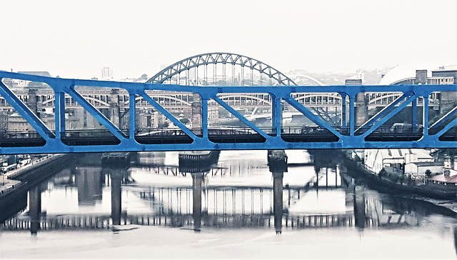 Tyne Bridges - Early Morning Grey
