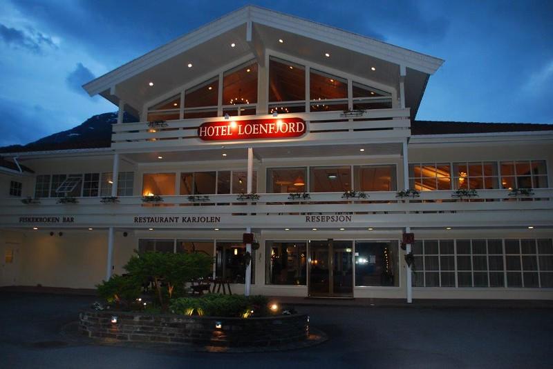 Her er hotellet vi overnattet på