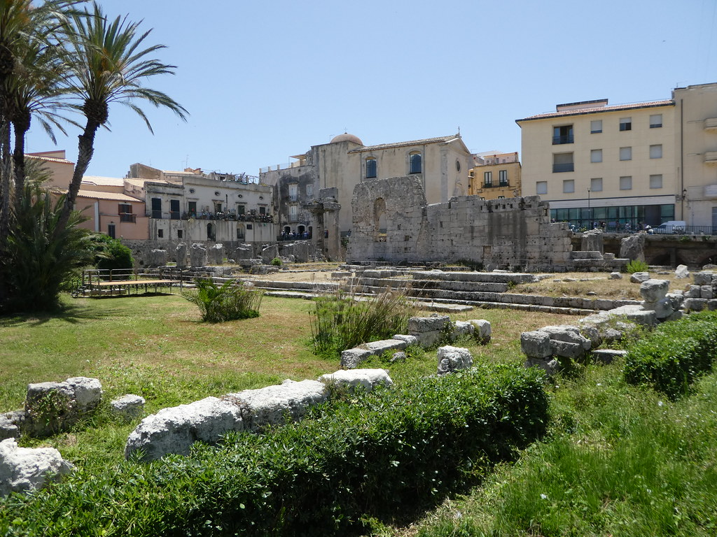 Ruins of the Greek Temple of Apollo, Ortigia, Sicily