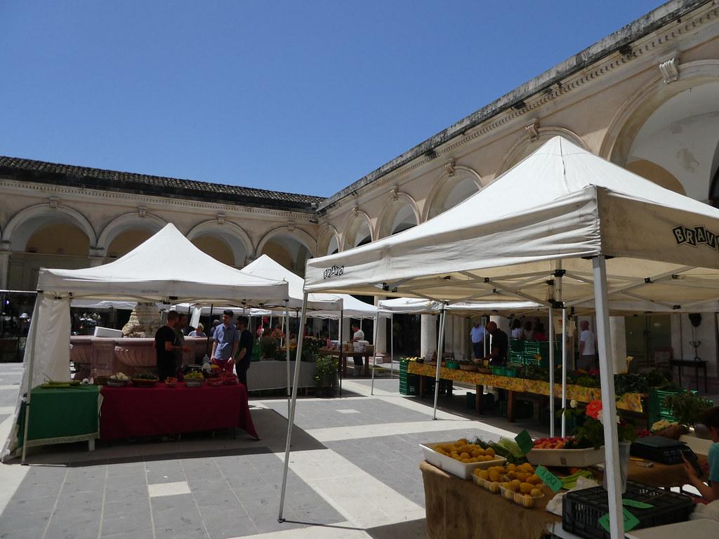 Ortigia's outdoor market hall, Sicily