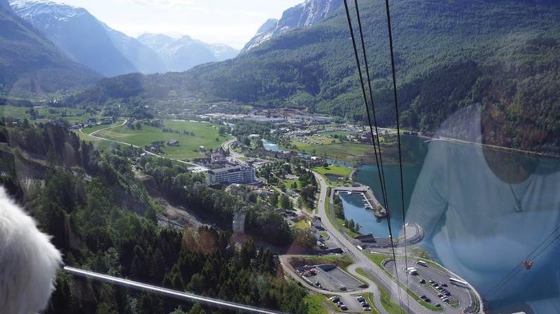 Utsikt fra Skayliften