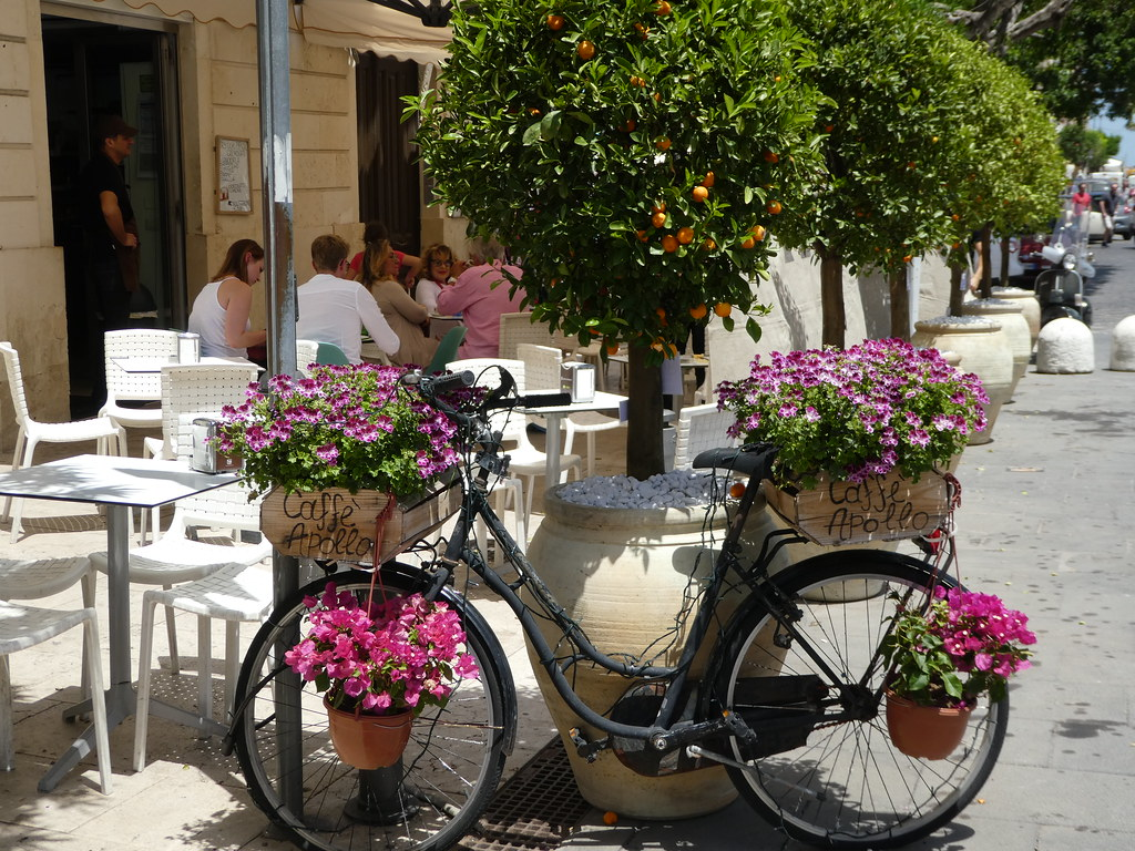 Delightful cafes in Ortigia, Sicily