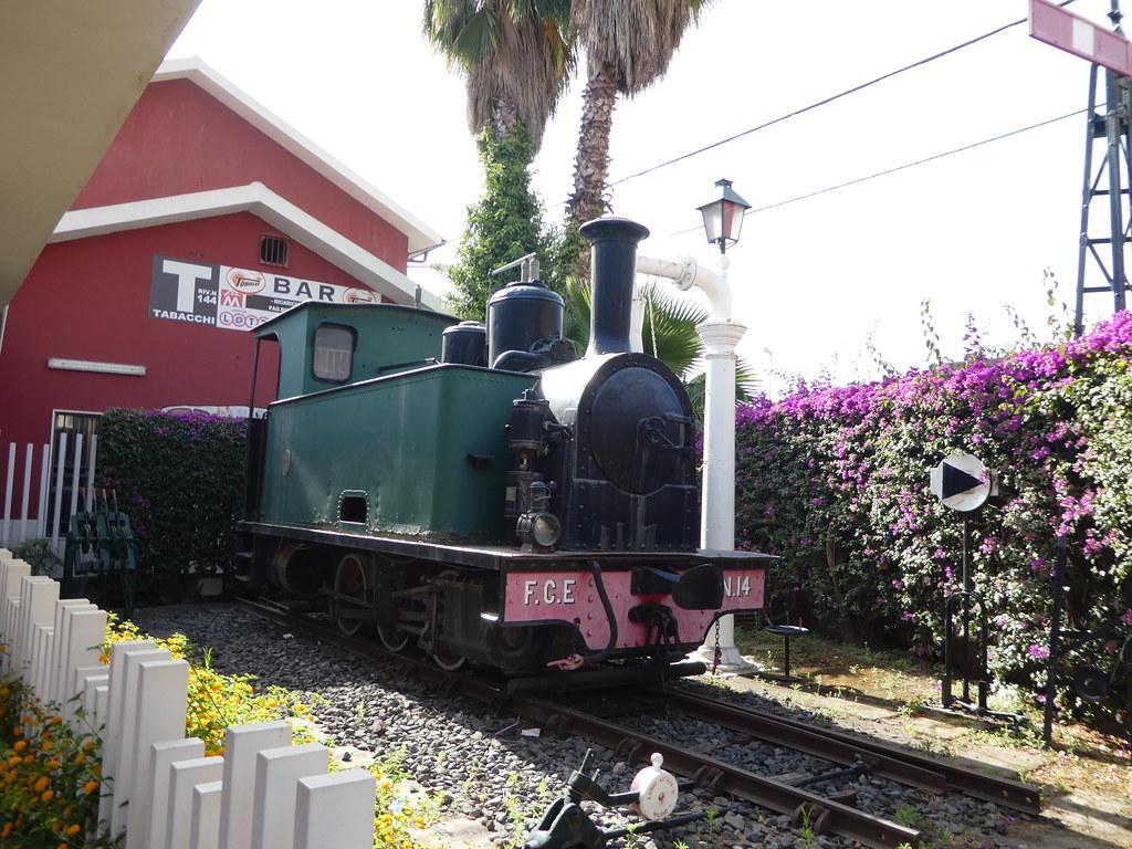 Steam Engine at Catania Borgo Station, Sicily