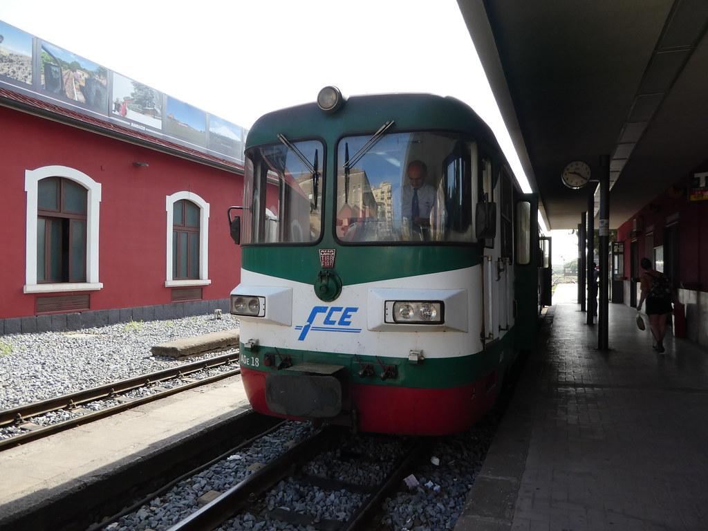 The Rack Railway at Catania Borgo Station, Sicily