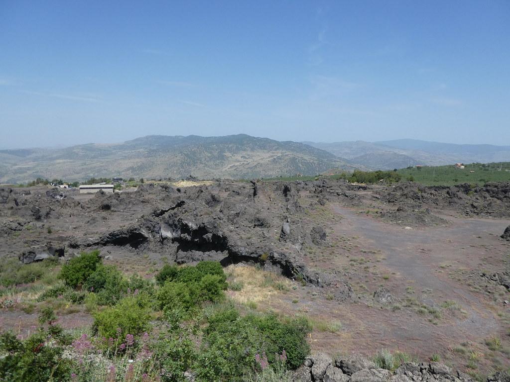 Lava flows around Mt. Etna