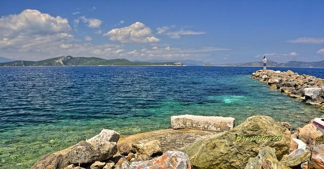 Insel Euböa / Evia - Nea Styra Harbour - Golf von Euböa