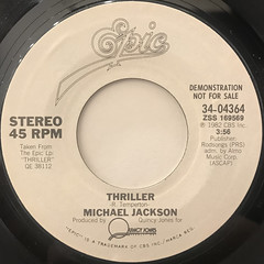 MICHAEL JACKSON:THRILLER(LABEL SIDE-B)