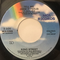 52ND STREET:TELL ME(LABEL SIDE-B)
