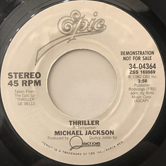 MICHAEL JACKSON:THRILLER(LABEL SIDE-A)