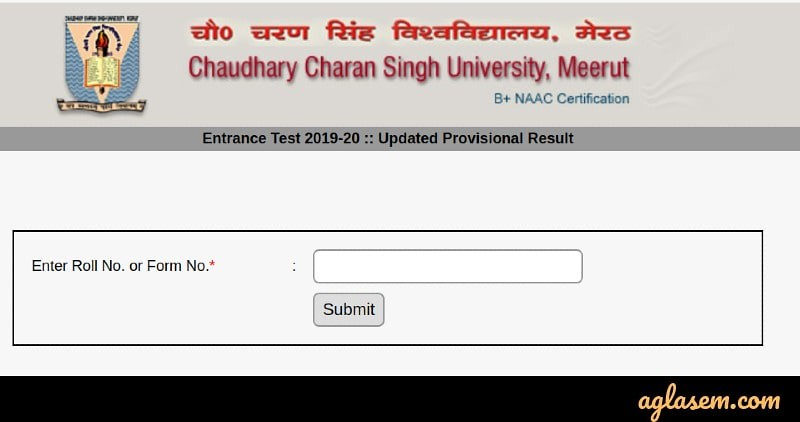 CCS University Result 2020 - Check Here for All Courses