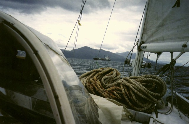 Janvier 2003 canal principal, canaux de Patagonie, Chile