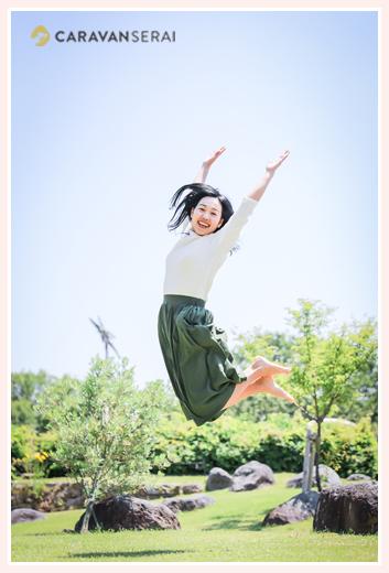 過食症専門カウンセリング「ハッピーフローラ(Happy Flora)」鈴木玲奈さま 高くジャンプ!