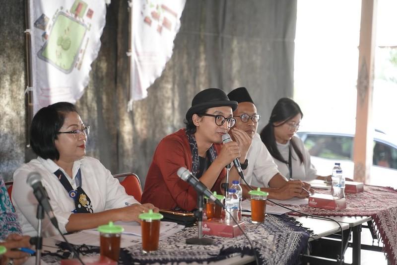 Paksi Raras Alit (Ketum FKY2019) saat memaparkan penjelasan tentang FKY2019.Foto oleh Dok. FKY2019