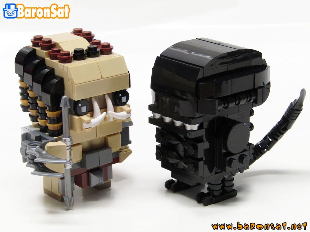 LEGO-BRICKHEADZ-ALIEN-VS-PREDATOR-MOC (custom built Lego model)