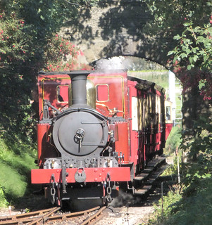 Isle of Man Railway - No. 12 Hutchinson approaches Castletown Station with the 13.50 from Douglas to Port Erin on the 4th September 2018