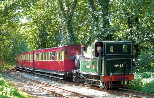 Isle of Man Railway - No. 13 Kissack arrives at Castletown Station with the 14.00 from Port Erin to Douglas on the 4th September 2018