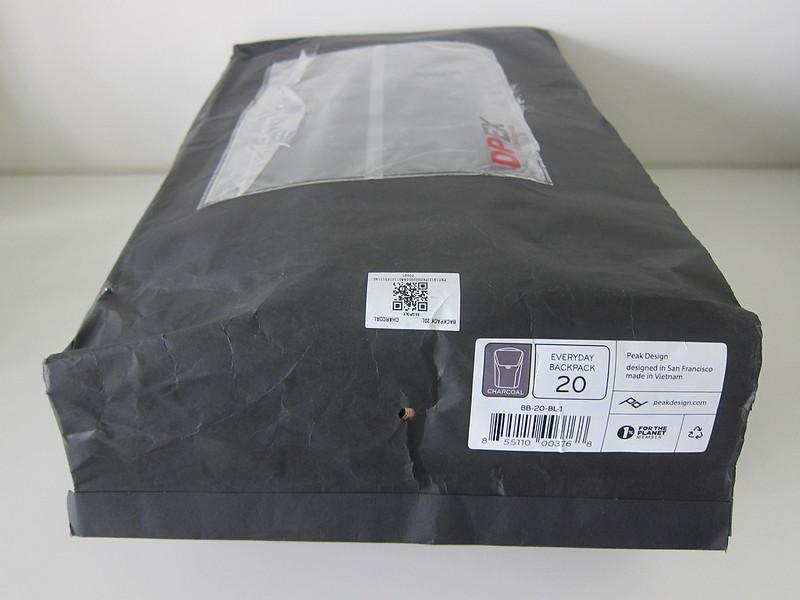 Peak Design Everyday Backpack 20L - Packaging Back