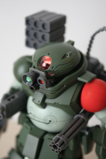 [HGBD] Armored Trooper Grimoire - Red shoulder custom weapons (Base on Red Beret type)
