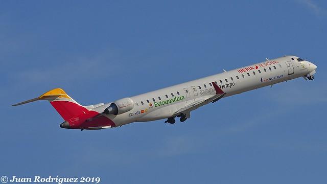 EC-MSB -  Air Nostrum - Iberia RegionaL - Bombardier CRJ-1000 (CL-600-2E25) - PMI/LEPA