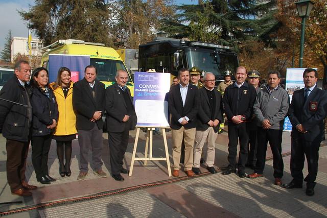 """Alcalde de Coltauco participa en el lanzamiento oficial del Proyecto """"Planes de Emergencia Comunales"""""""