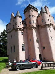 Porsche Cars at Craigievar Castle