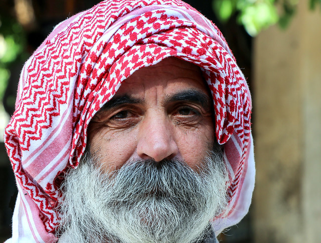 Portrait of a Yazidi man, Lalish temple, Iraqi Kurdistan