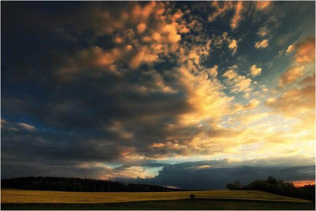 Abendwolken sind bunt