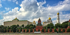 View to Kremlin from across the Moscow river