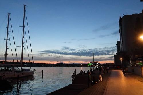 Am Flensburger Innenhafen vor Mäder's Restauration