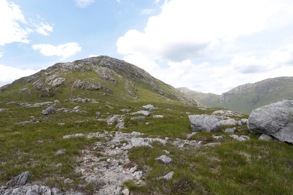 The path up Sron a' Garbh Choire Bhig