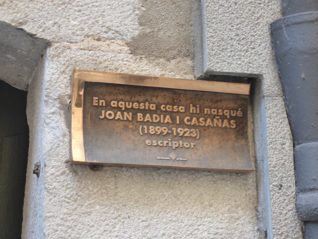 Carrer de l'Argenteria, Girona - plaque - Joan Badia I Casañas