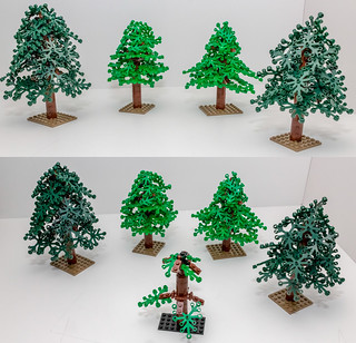 Trees with 1x2 clips