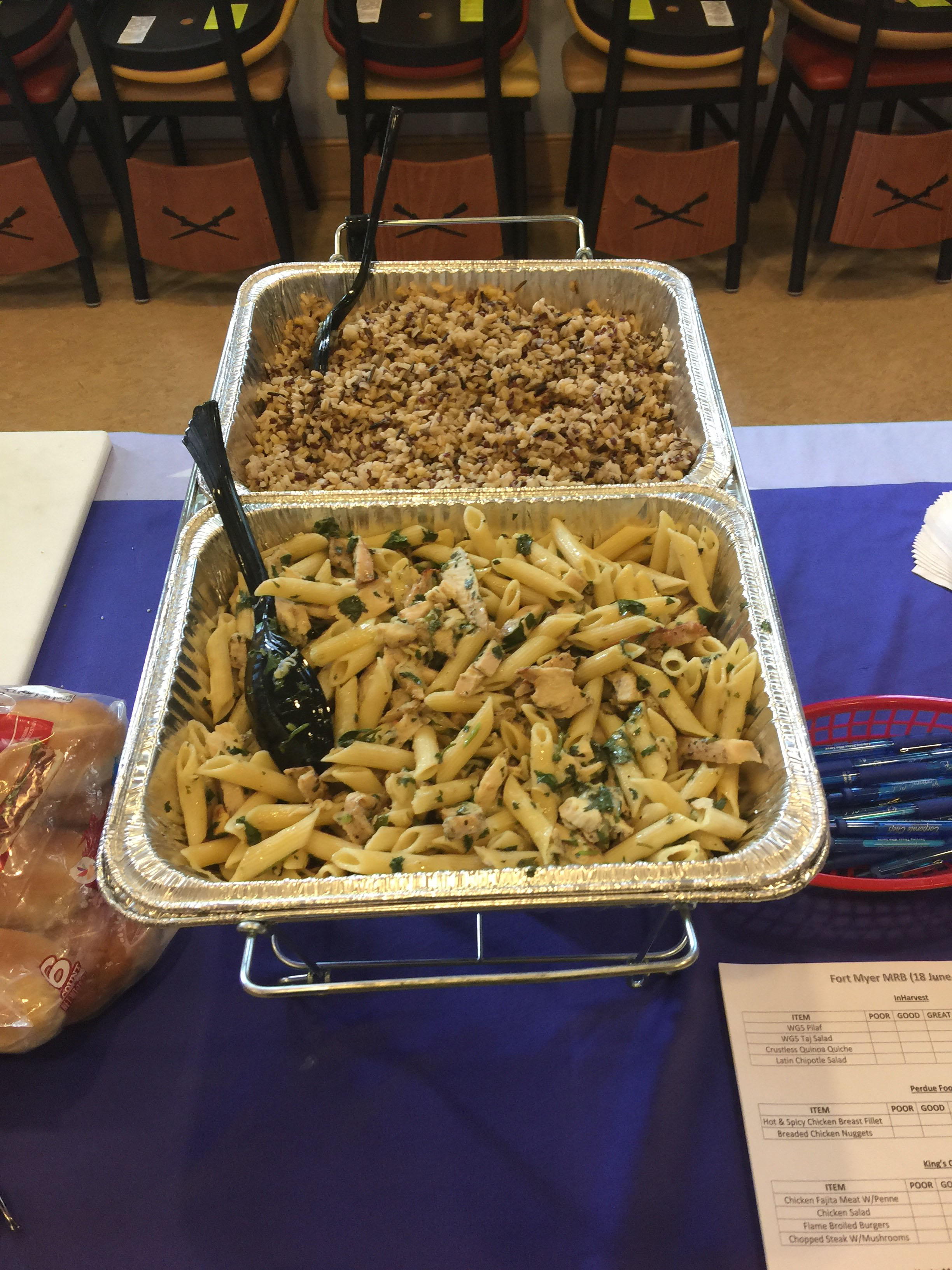 Wole Grain 5 (InHarvest) and Penne with Chicken Fajita Meat (Kings COmmand)