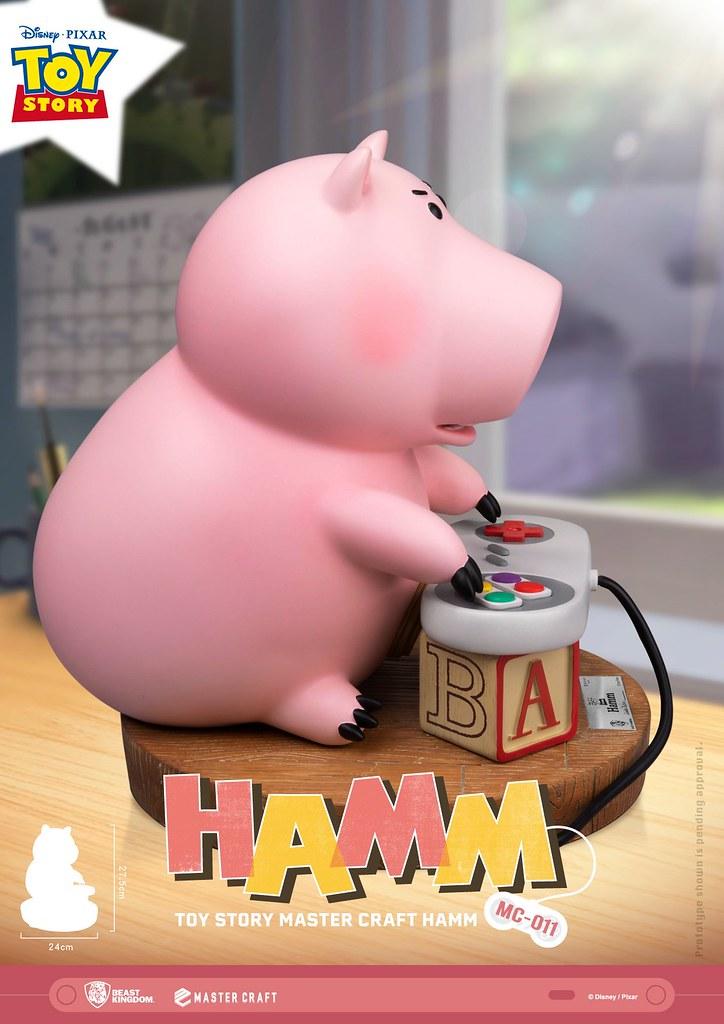 又肥又粉紅實在太可愛! 野獸國 Master Craft 系列《玩具總動員》火腿豬 Hamm MC-011 全身雕像作品