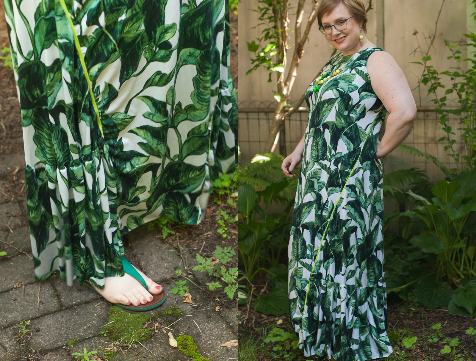 Jalie Palm Maxi Dress