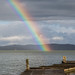 Pier and rainbow