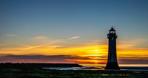 england newbrighton beach britain clear coast europe fort horizon lighthouse perchrock sand sky solstice summer sunset wallasey wirral ©2019tonysherratt 20190621214656
