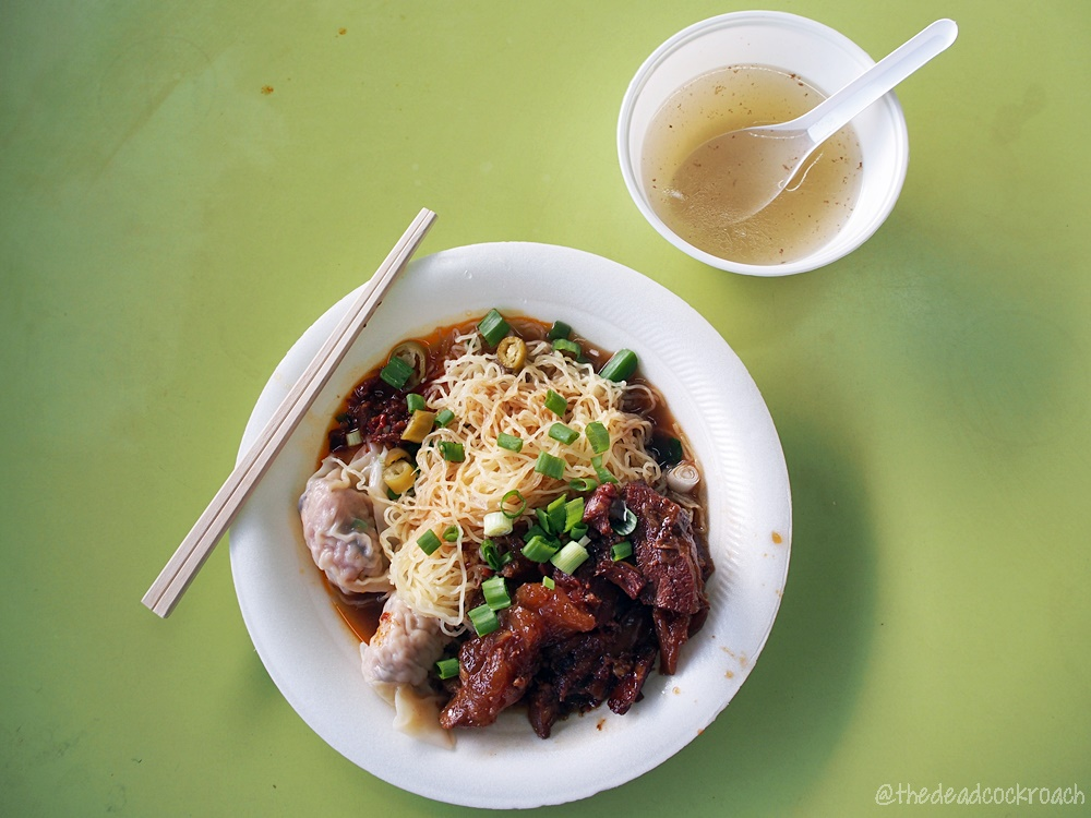 beef brisket, chinatown complex, fatty ox hk kitchen, food, food review, review, singapore, soy sauce chicken, sui kow, 水餃, 水饺, 牛腩, 肥牛過橋面檔, 豉油雞, 豉油鸡,
