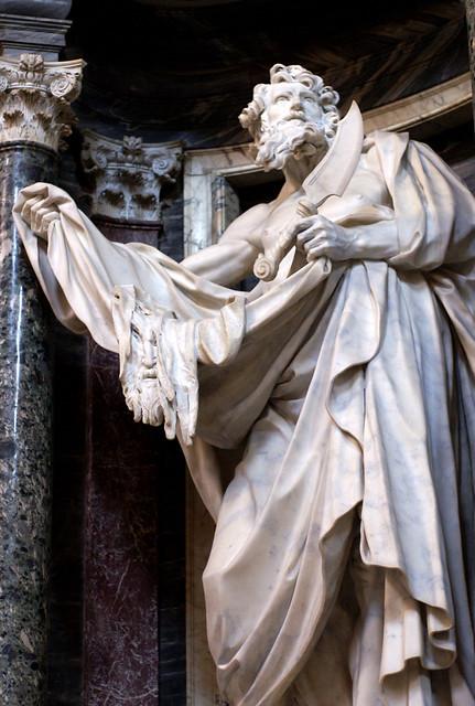 Rom, Basilica di San Giovanni in Laterano, hl. Bartholomäus von Pierre Legros (St. Bartholomew)