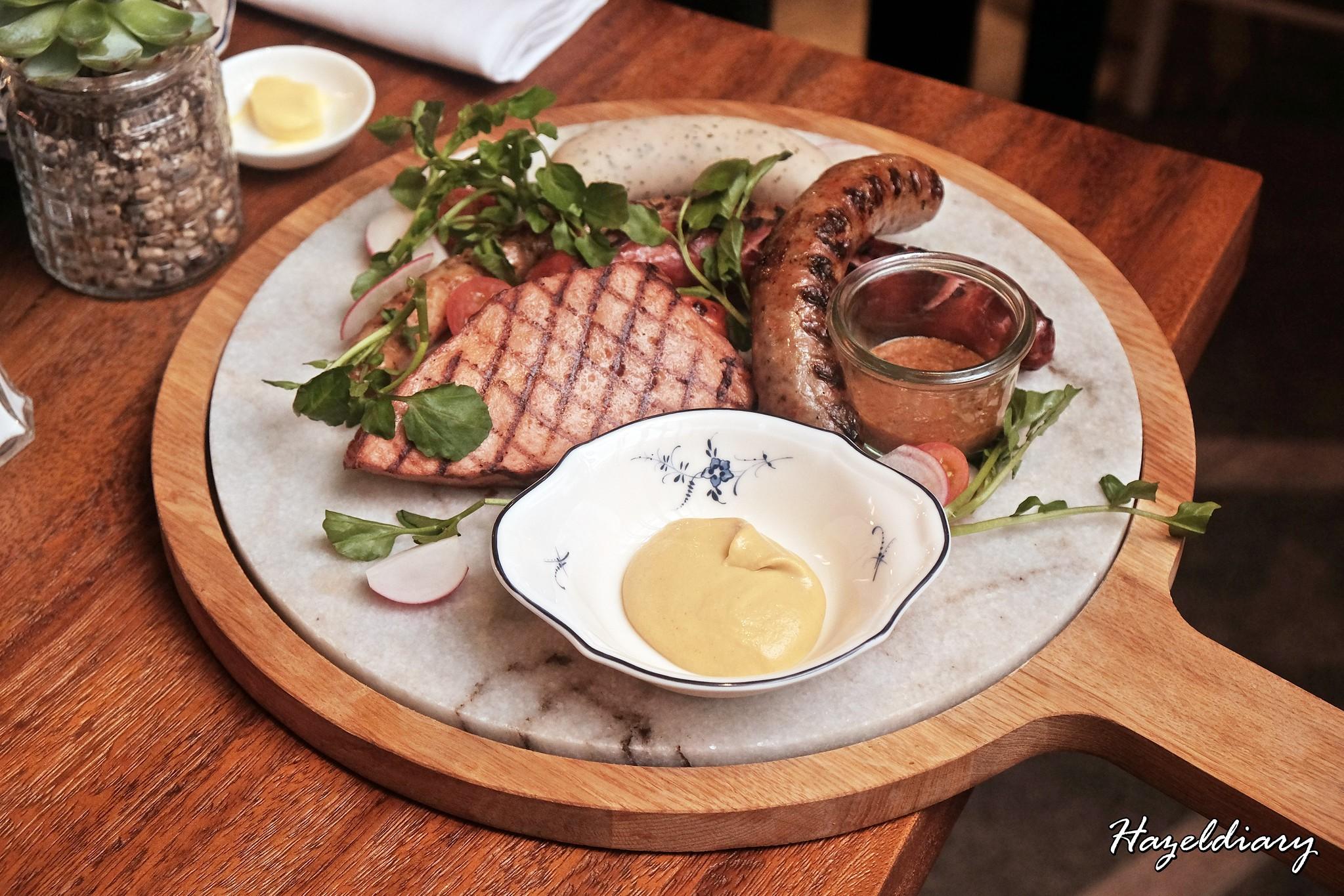 Frieda Restaurant and Bar-Grilled Sausage Platter