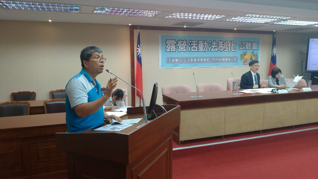 中華民國露營觀光產業全國聯盟總會秘書長陳錫鎮認為,政府應該開大門走大路,讓露營產業有國際競爭力。孫文臨攝