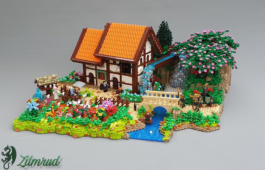Miller's Garden (custom built Lego model)
