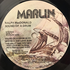 RALPH MACDONALD:SOUND OF A DRUM(LABEL SIDE-A)