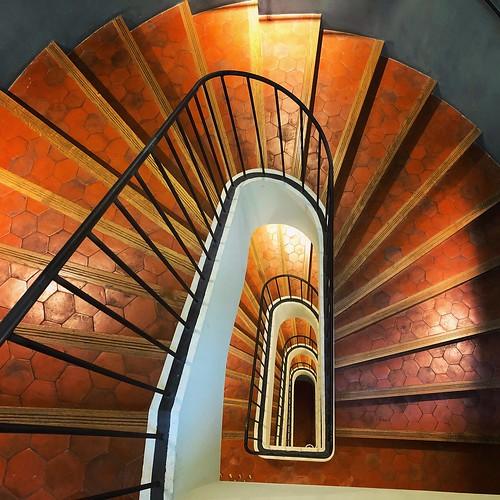Escalera del Hotel de Caumont en Aix-en-Provence (Provenza, Francia)