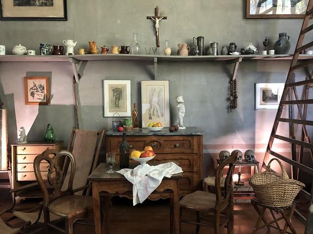 Interior del taller de Cézanne en Aix-en-Provence